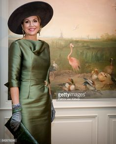 "Queen Maxima opens the exhibition ""Royal Paradise Aert Schulman and the imagination of nature"" in Dordrecht Museum. Feb. 17, 2017"