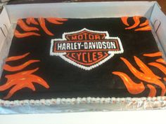 Harley Davidson - a great guys cake!  Kat  this is what I kinda like for nicks party