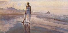 Spirit and Essence of Women in The Paintings: Painter of these fascinating paintings is Steve Hanks and we think he has done an amazing job in capturing the spirit and essence of these women in the paintings. Very realistic character makes slight border between paintings and real photos.