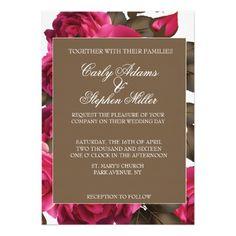 Elegant Floral Vintage Wedding Invitations