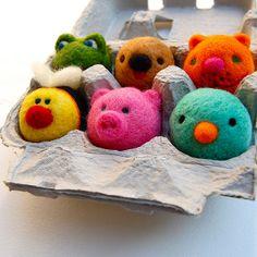 Mini felted animals by asherjasper, via Flickr