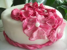Very simple flower cake