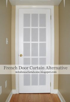 Not A House, But A Home: Tutorial: DIY French Door Curtain Alternative