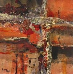 Painted Desert by Carol Staub Mixed Media Collage ~ 15 x 15