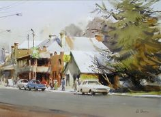 Home - Ross Paterson Watercolor Art Landscape, Watercolor Architecture, Watercolor Artists, Landscape Art, Landscape Paintings, Watercolour Paintings, Australian Painters, Australian Artists, Collor