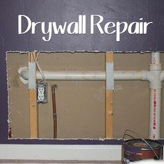 Indoor Drywall Repair Drywall Repair Home Repairs Diy Home Repair