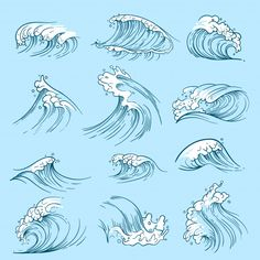 Find Sketch Ocean Waves Hand Drawn Marine stock images in HD and millions of other royalty-free stock photos, illustrations and vectors in the Shutterstock collection. Ocean Wave Drawing, Water Drawing, Wave Art, Ocean Drawing Easy, Vague Illustration, Meer Illustration, Ocean Art, Ocean Waves, Ocean Ocean