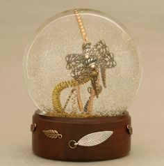 If It's Hip, It's Here: Steampunk Snow Globes By Camryn Forrest. One Of A Kind Shakeable Art.