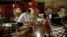The Piehole Interior, Pushing Daisies.  Production Design by Michael Wylie, Art Direction by Kenneth J. Creber, Set Decoration by Halina Siwolop.