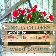 This would be such a cute sign for my grandparents garden!!!