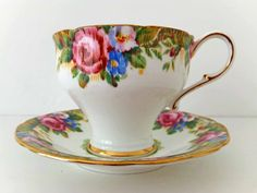 English Paragon China Tea Cup and Saucer by peonyandthistle, £8.00