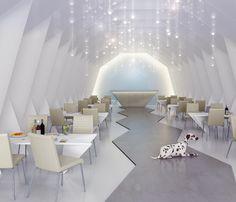 Origami restaurant Interior Design