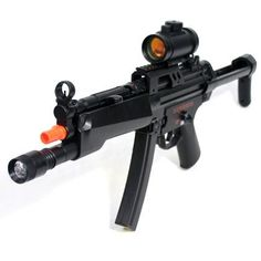New Generation MP5A5 Heavy Airsoft Gun Full Size MP5A5 LOADED by AirSoft. $31.99. Full Auto KP5 Heavy Airsoft Gun Full Size KP5 A5 LOADED Sub Machine Gun. U.S. Army, Navy, Seal Commando, Counter Strike, Battlefield 2 GUN. This is the next best gun to Tokyo Marui Brand which costs you at least $300 a gun. With a fraction of price, you get this comparable quality automatic electric gun with the state of the art adjustable Hop Up technology which helps shoot more accur... Battlefield 2, 2 Guns, Military Memorabilia, Tokyo Marui, Airsoft Guns, State Art, Army, Silver Lining, Outdoors