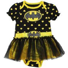 Batgirl Infant Baby Girls Dress Up Tutu Creeper Onesie Bodysuit mo, Black / Yellow) Batman Baby Clothes, Cute Baby Clothes, Batman Baby Stuff, Girls Dress Up, Tutus For Girls, Batman Costume For Kids, Baby Girl Tutu, Baby Girls, Baby Showers