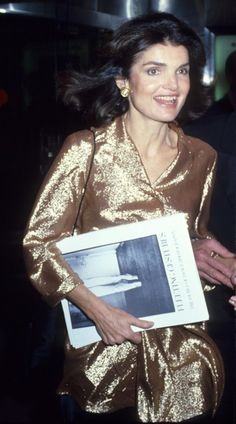 Jacqueline went glam for a night out at the International Center of Photography in NYC in November 1978