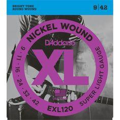 Juego cuerdas guitarra eléctrica D'Addario EXL120