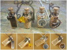Wire Wrapped Mustard Seed Bottle Necklace by CommunionOfSaints, $20.00 Bottle Charms, Bottle Necklace, Necklace Drawing, Or Antique, Antique Copper, Mini Bottles, Christian Jewelry, Religious Jewelry, Mustard Seed