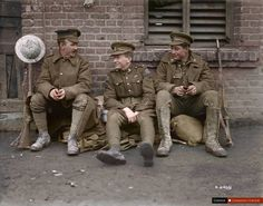 Time Caspule: 25 beautiful, sad & thought provoking colourised images of WWI - Page 3 of 3 - Canadian Army, British Army, World War One, First World, Commonwealth, Ww1 Photos, British Soldier, Military History, Troops