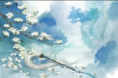 (credit to the owner) China Art, Ancient Art, Japanese Art, Scenery, Landscape, Wallpaper, World, Drawings, Illustration