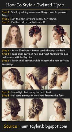 Styling a Twisted Updo | Beauty Tutorials