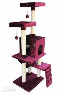 Wholesale Luxury cat litter climbing frame cat house scratch column toy, Free shipping, $298.87/Set | DHgate