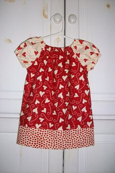 Peasant Dress VALENTINES Day HEART TOSS