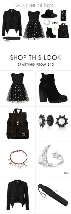 """Daughter of Nyx"" by kitty3136 ❤ liked on Polyvore featuring Proenza Schouler, Michael Stars, Bling Jewelry, La Preciosa, Vero Moda, Kate Spade Saturday and Fulton"