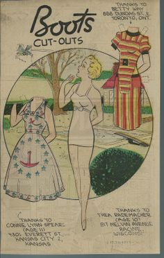5-3-59 Boots paper doll / eBay