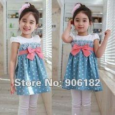 Resultados da Pesquisa de imagens do Google para http://i01.i.aliimg.com/wsphoto/v0/544128745_1/2012-baby-girl-dress-children-dress-short-sleeve-dress-children-summer-clothes-denim-skirt-blue-lace.jpg