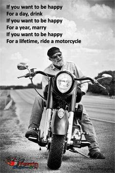 OK. I'll admit, the marriage thing is as good as the motorcycle thing. But this is still a great thought.