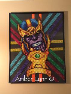 Thanos Infinity Gauntlet Perler Bead Design by Amber--Lynn.deviantart.com on @DeviantArt