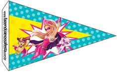 Bandeirinha Sanduiche 6 Barbie Super Princesa