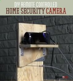 DIY Remote Controlled Home Security Camera | Prep For SHTF Situation Here's The Awesome Project For Every Preppers & Survivalist By Survival Life survivallife.com/... #homesecuritydiyshtf