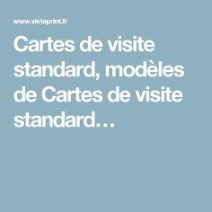 Cartes de visite standard, modèles de Cartes de visite standard…