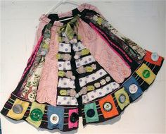 Apron of Recycled CANS #  Wearable Art Collage Clothing # myBonny # Folk Artist #