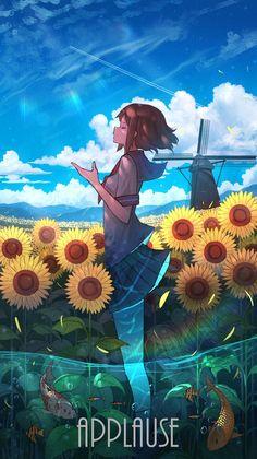 Anime Backgrounds Wallpapers, Anime Scenery Wallpaper, Anime Artwork, Animes Wallpapers, Cool Anime Girl, Anime Art Girl, Cute Anime Character, Character Art, Anime Summer