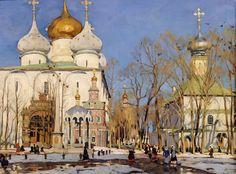 "fleurdulys: "" The Annunciation Day - Konstantin Yuon 1922 """