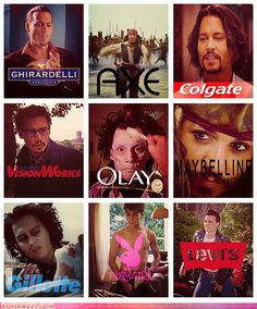 hahaha. Johnny Depp as various product advertising.