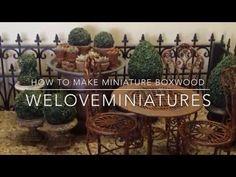 How to make miniature clay pots Dollhouse Miniature Tutorials, Diy Dollhouse, Miniature Dolls, Dollhouse Miniatures, Miniature Plants, Miniature Houses, Minis, Mini Plants, Buxus