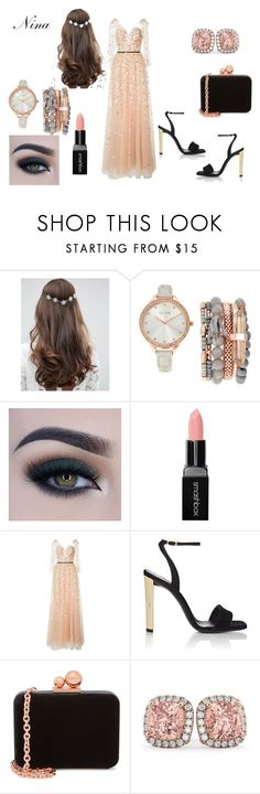 """""""Sol antes de Luna"""" by love1662002 on Polyvore featuring ASOS, Jessica Carlyle, Too Faced Cosmetics, Smashbox, Monique Lhuillier, Giuseppe Zanotti, Sophia Webster and Allurez"""