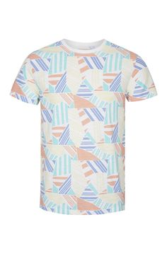 Retro Geometric Print T-Shirt