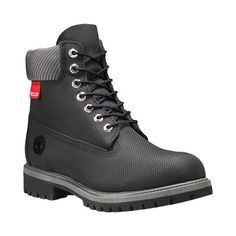 Men's Timberland Classic Premium Boot, Size: 14 W, Black Helcor Leather Mens Waterproof Boots, Timberland Waterproof Boots, Timberland Boots Outfit, Black Timberlands, Timberland Classic, Timberland Mens, Yellow Boots, Black Boots, Men's Boots