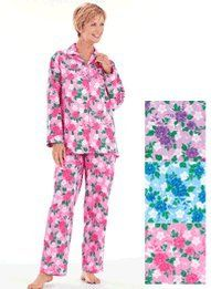 Floral Flannel Pajamas - Women`s Sizes $19.99