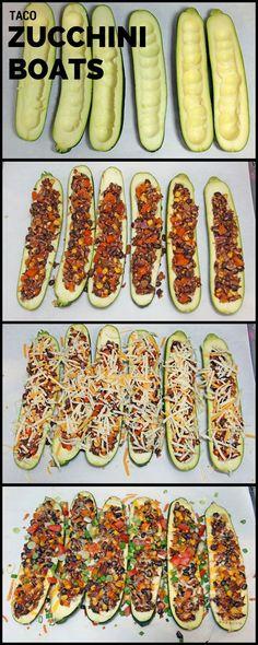 Taco Zucchini Boats | 365 Days of Easy Recipes