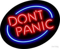 """Hitchhiker's Guide - """"Don't Panic"""" Neon Sign"""