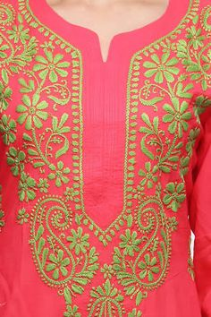 Image result for hand embroidery designs for kurtis neck