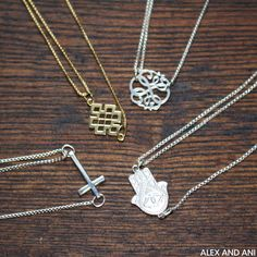 ALEX AND ANI Providence Collection Precious Necklaces. Available in silver and gold and in numerous symbols!