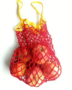 Filet à provision en crochet / Crocheted string bag