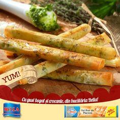 Rulouri crocante cu pesto Pesto, Carrots, Vegetables, Food, Essen, Carrot, Vegetable Recipes, Meals, Yemek