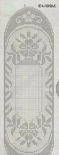 Burda Filet au Crochet - Zosia - Picasa Web Albums Crochet Art, Thread Crochet, Crochet Motif, Crochet Doilies, Crochet Blocks, Crochet Cross, Crochet Home, Crochet Stitches, Crochet Shawl Diagram